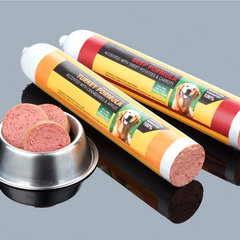 Pet food printed casings
